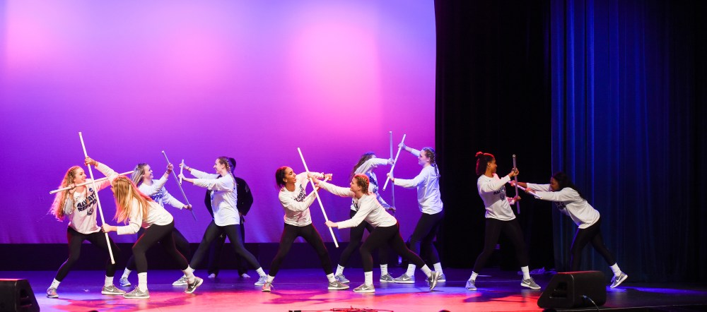 Belmont Women's Basketball Team performs at Battle of the Bruins, a talent show benefiting Special Olympics