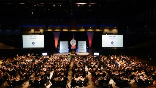 The stage and audience at the Tennessee Health Care Hall of Fame's 2016 Induction Ceremony