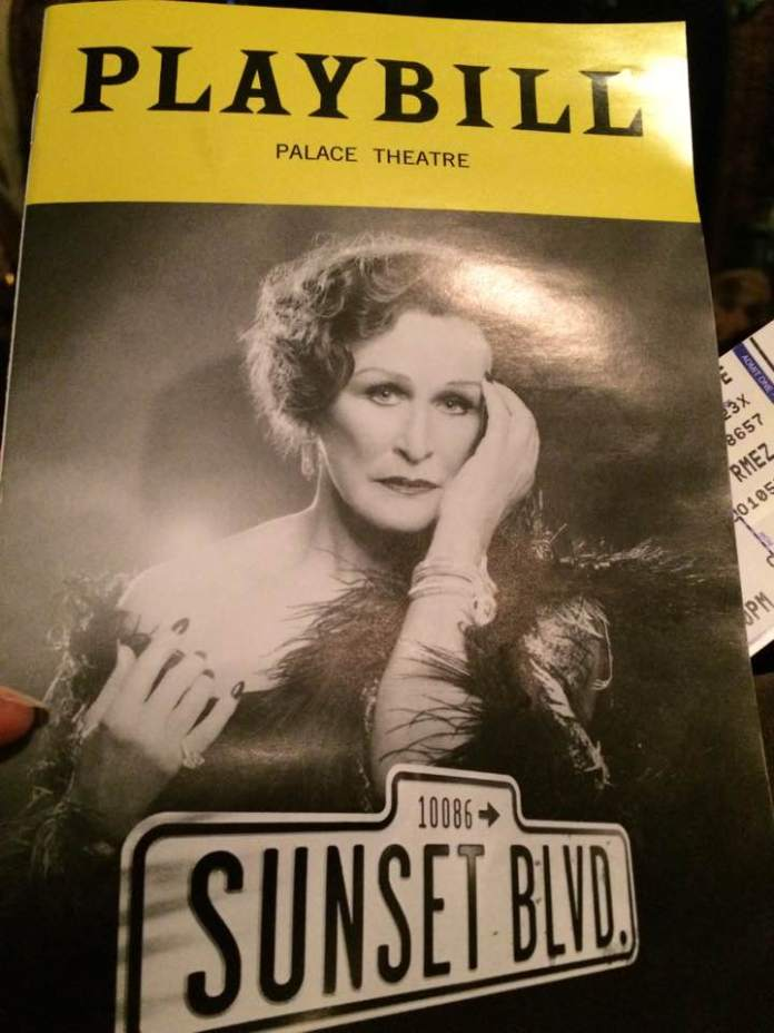 The Playbill Cover for Sunset Boulevard