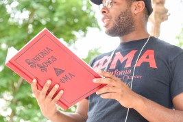 Phi Mu Alpha hosted an acapella sing along throughout the day on campus.