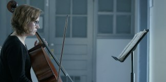Brinson performs with her cello