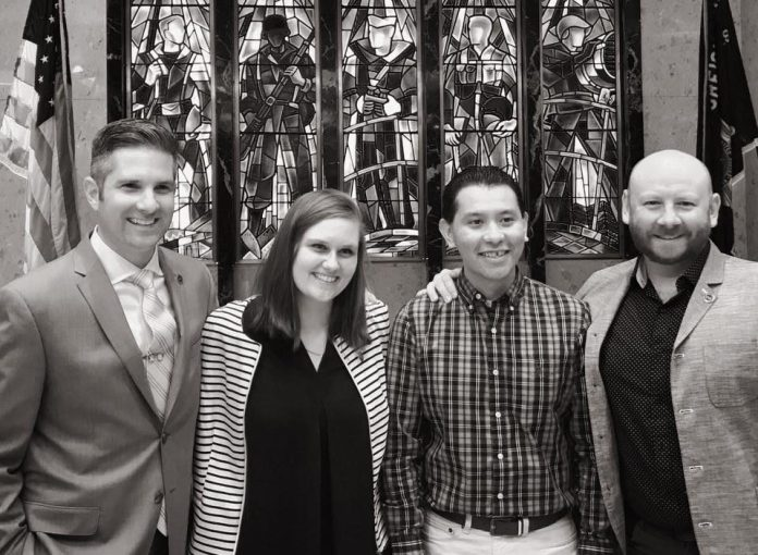 Photo of Lindsey Barchent with SVA Communications Team