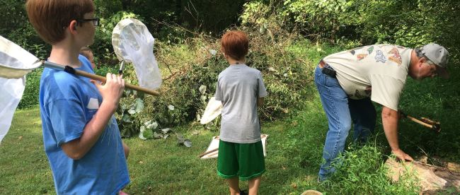 Students participate in Bug Camp at the Sam Davis Home