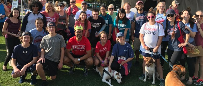 Students participate in the AIDS Walk in nashville with their professor, Dr. Edgar Diaz-Cruz