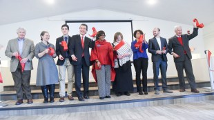 Belmont Ministry Center Ribbon Cutting ceremony at Belmont University in Nashville, Tennessee, January 17, 2018.