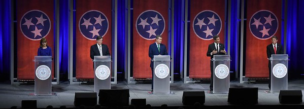 Tennessee gubernatorial candidates talk education during SCORE event at Belmont University in Nashville, Tennessee, January 23, 2018.