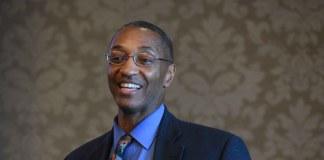 Dr. Bill Tate, Scholar in Residence speaks at Belmont University in Nashville, Tennessee, January 23, 2018.