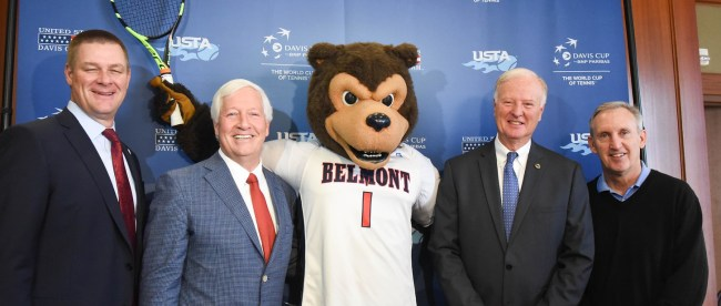 The United States Tennis Association (USTA) announced today that Belmont University has been selected to host the 2018 Davis Cup World Group Quarterfinal at Belmont University Nashville, Tennessee, February 15, 2018.