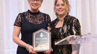 Taylor receives the Community Nursing Award at a Gala held in Memphis