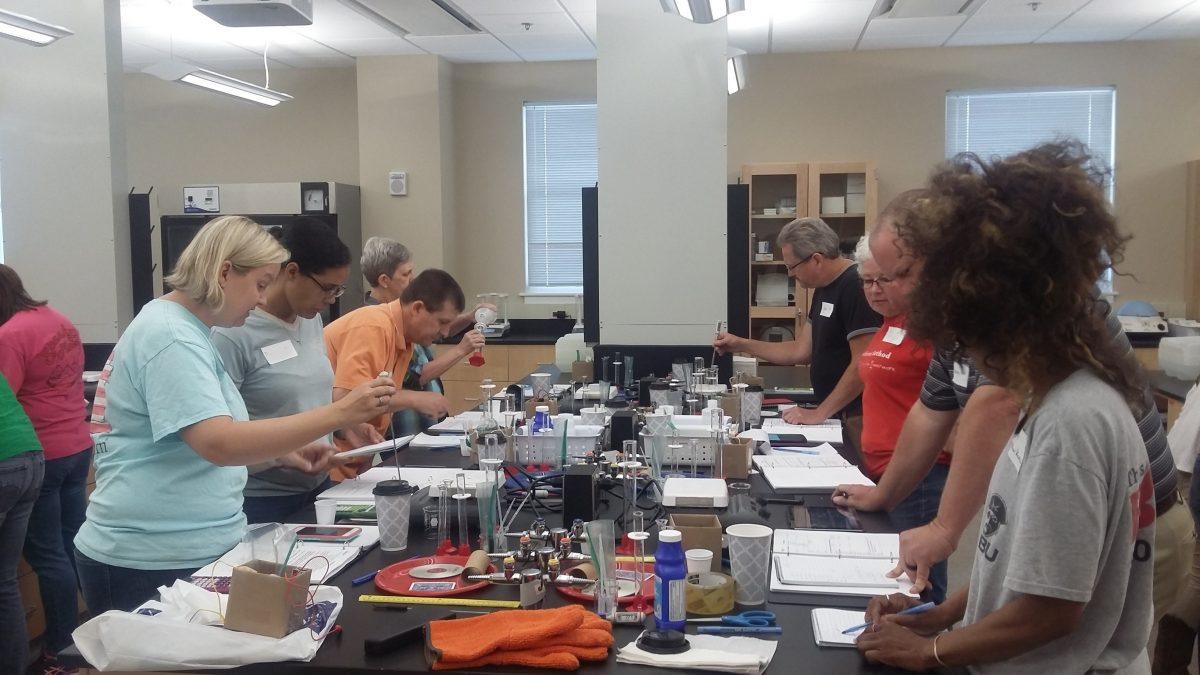 Chemistry Education Workshops for Middle, High School Teachers