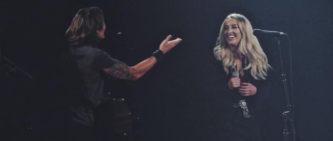 Ashley Ryan joins Keith Urban on stage at Bridgestone Arena
