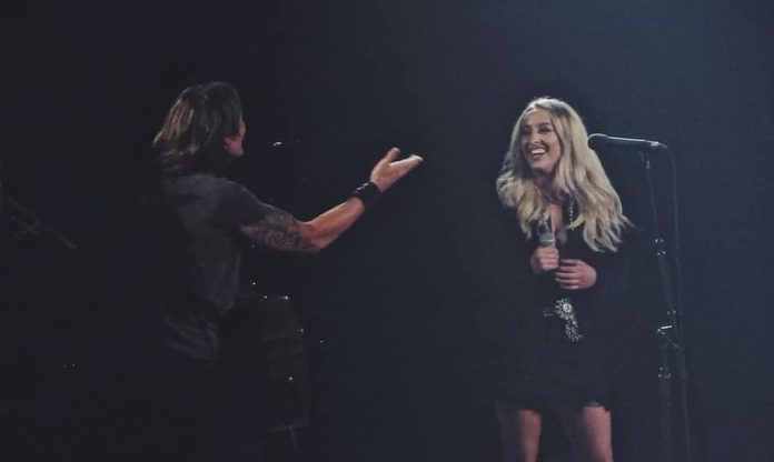 Ashley Ryan joins Keith Urban on stage at Bridgestone Arena