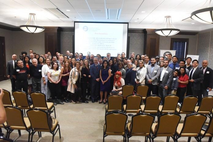 Hispanic Chamber heritage month kick off party group shot