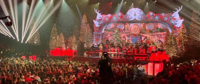 Reba McEntire at 'CMA Country Christmas' taping