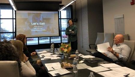 Ryan Reisdorf presents his business.