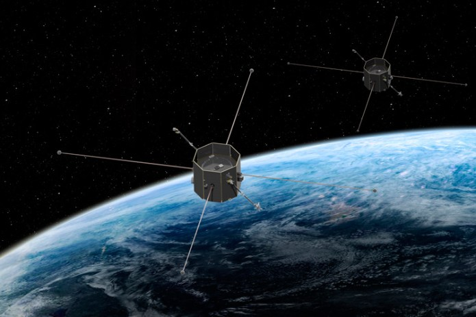 two TRACERS satellites in orbit around the Earth
