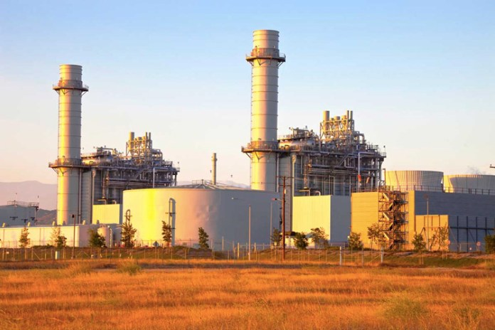natural gas power plant for electricity