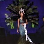 Srishti Rana in Ethnic Peacock Costume at Miss Asia Pacific World 2013