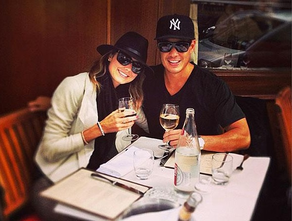 Stacy Keibler with Husband Jared Pobre in Paris