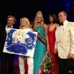 Olivia Aspland after winning the crown of Miss World Sweden
