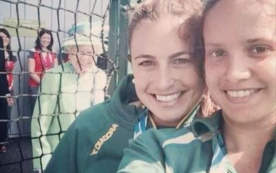 Jayde Taylor and Brooke Peris Selfie with Queen Elizabeth