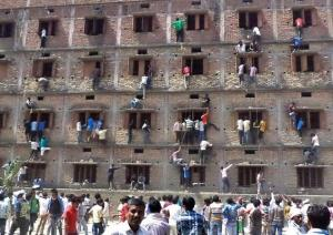 Cheating during Bihar Board Examinations in 2015