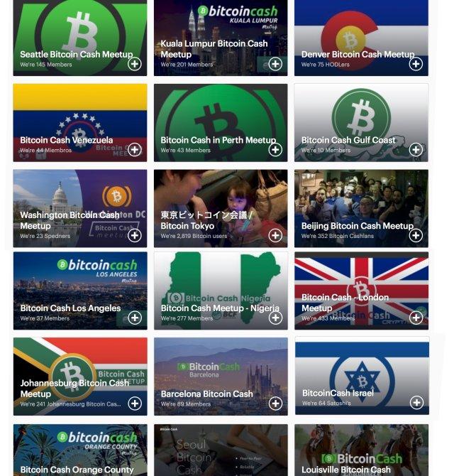 Os Meetups de Bitcoin Cash crescem descontroladamente em todo o mundo