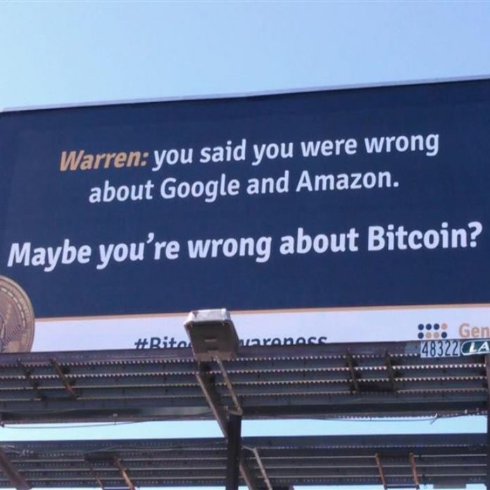 Bitcoin in Brief Saturday: Warren Warned By Billboards, Coinbase Tempted by Banking