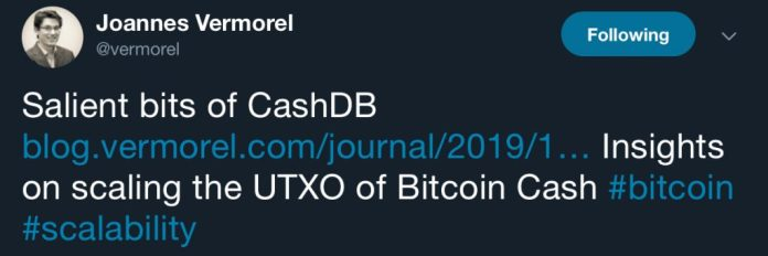 Developer Releases Cash-DB, a Terab Project Fork for the BCH Network