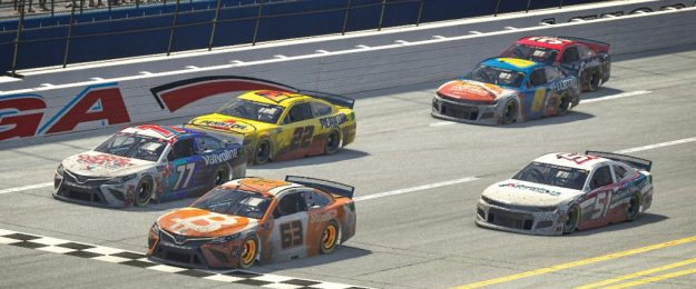 Bitcoin Car Finishes First in Virtual NASCAR Race Beating National Champion Kyle Busch