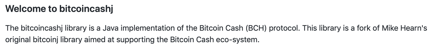 Developer Adds Improvements to the Bitcoin Cash Java Library