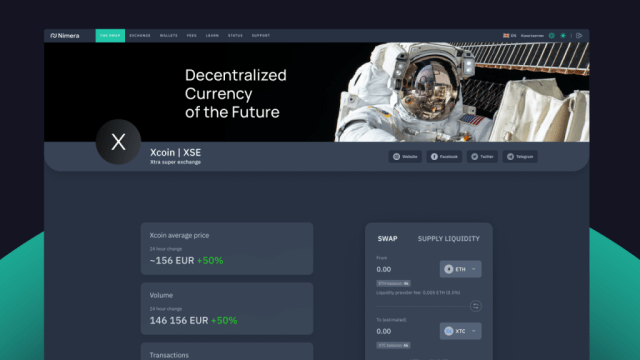 Nimera Swap provides a low-cost DeFi exchange platform and supports any blockchain