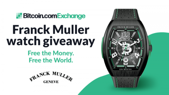 "Win a Limited Edition Franck Muller Bitcoin Cash Watch ""Free the Money. Free the World."" With Bitcoin.com Exchange"