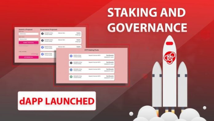 DYP Launches Staking and Governance DAPP