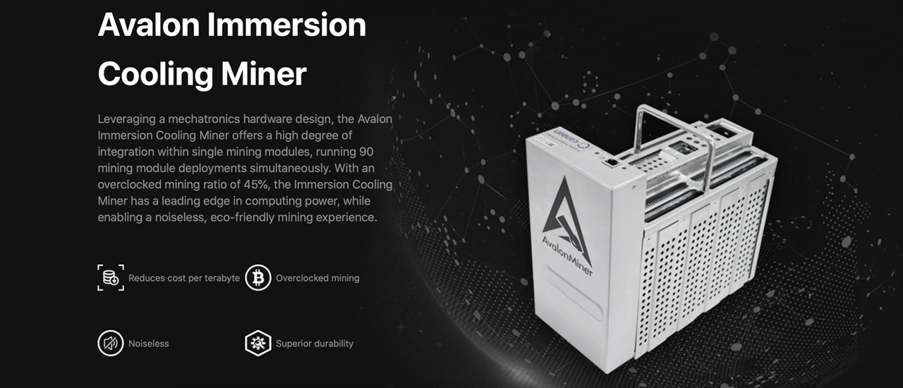 Canaan Launches Submerged Liquid-Cooled Bitcoin Miner, Noiseless Device Boasts 50 Terahash
