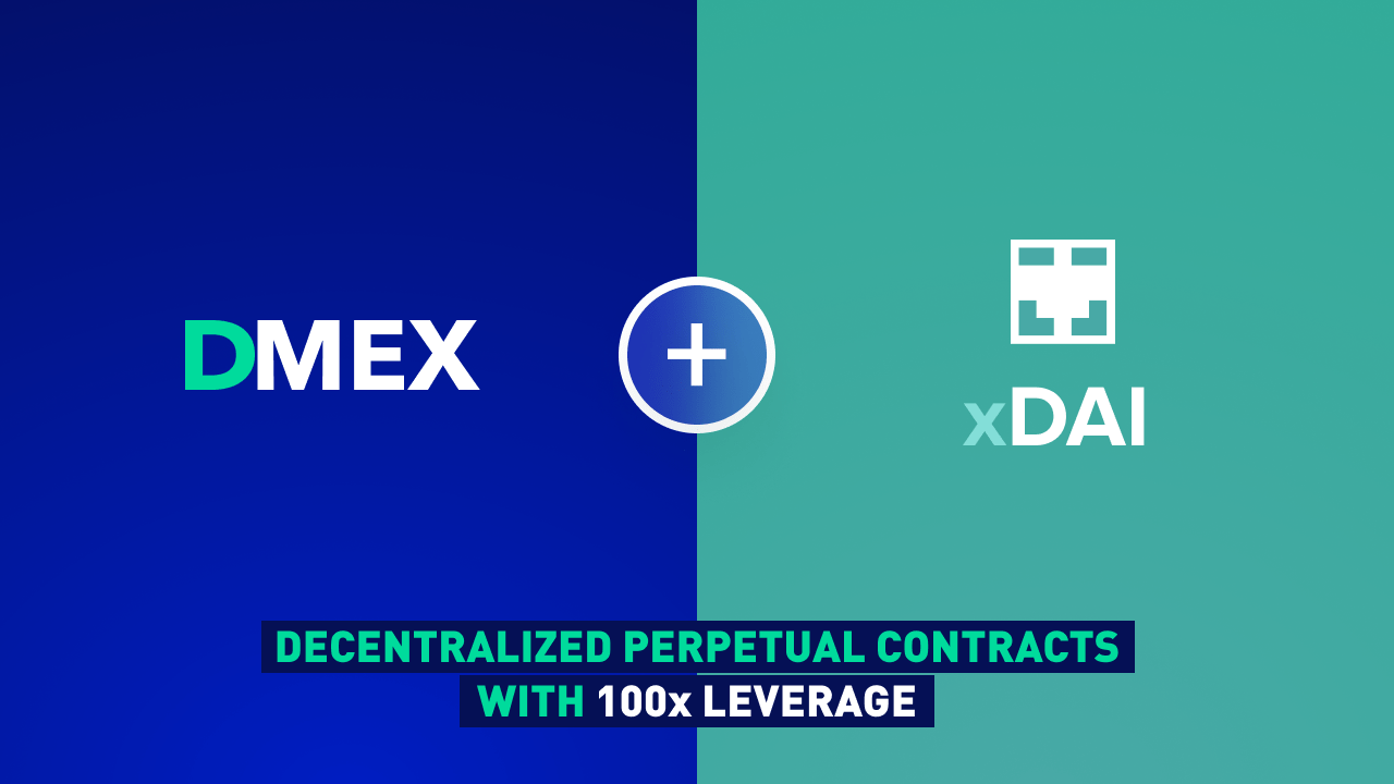 DMEX Integrates xDAI for Cheap Decentralized Perpetual Contracts With up to 100x Leverage and No KYC