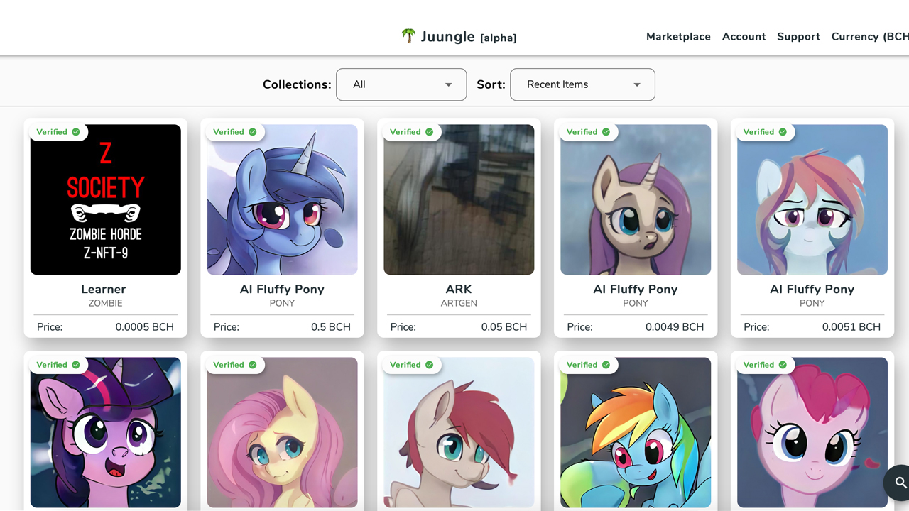 Welcome to the Juungle: A Bitcoin Cash NFT Market That Allows Anyone Buy and Sell Unique SLP Collectibles