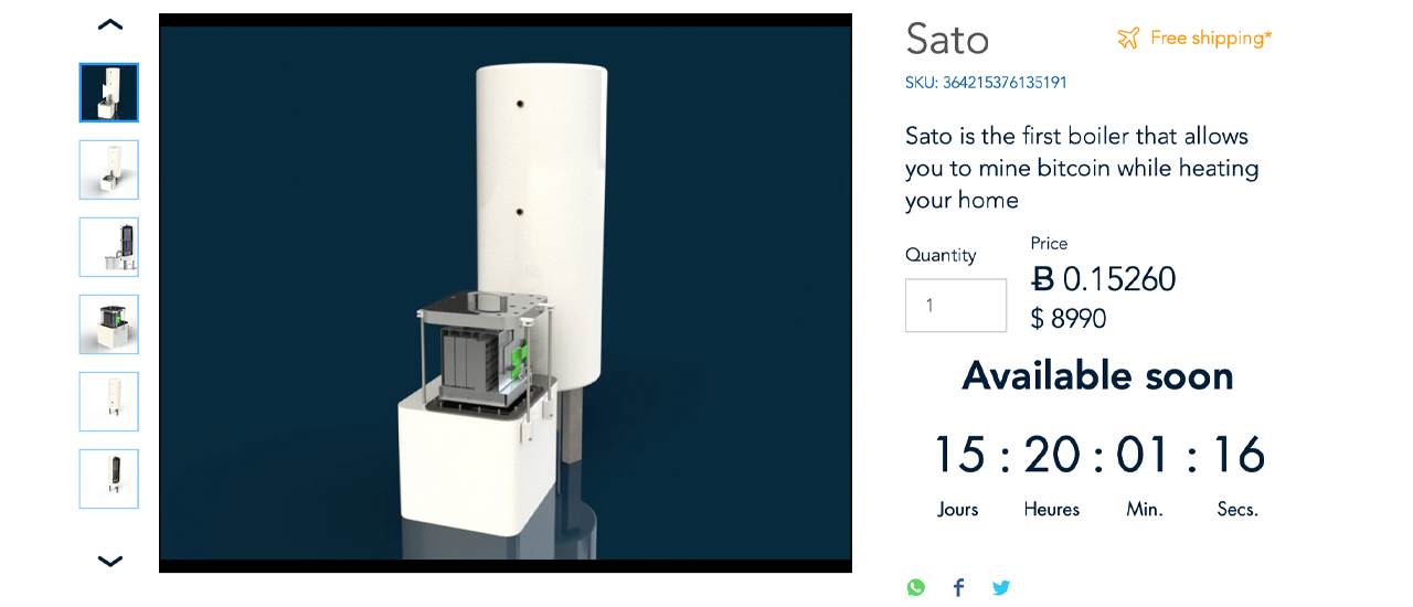 The Wisemining Sato Boiler- A Product That Aims to Heat Your Home and Offset Costs by Mining Bitcoin