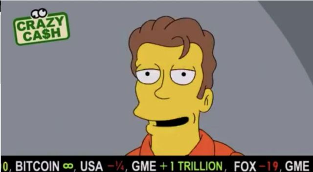 The latest episode of The Simpsons priced Bitcoin as