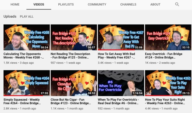 Pete Hollands YouTube channel