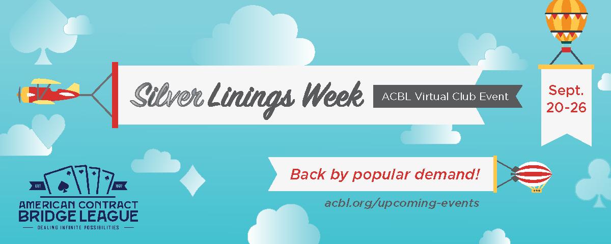 Spielen Sie in der ACBL Silver Linings Week – 20.-26. September