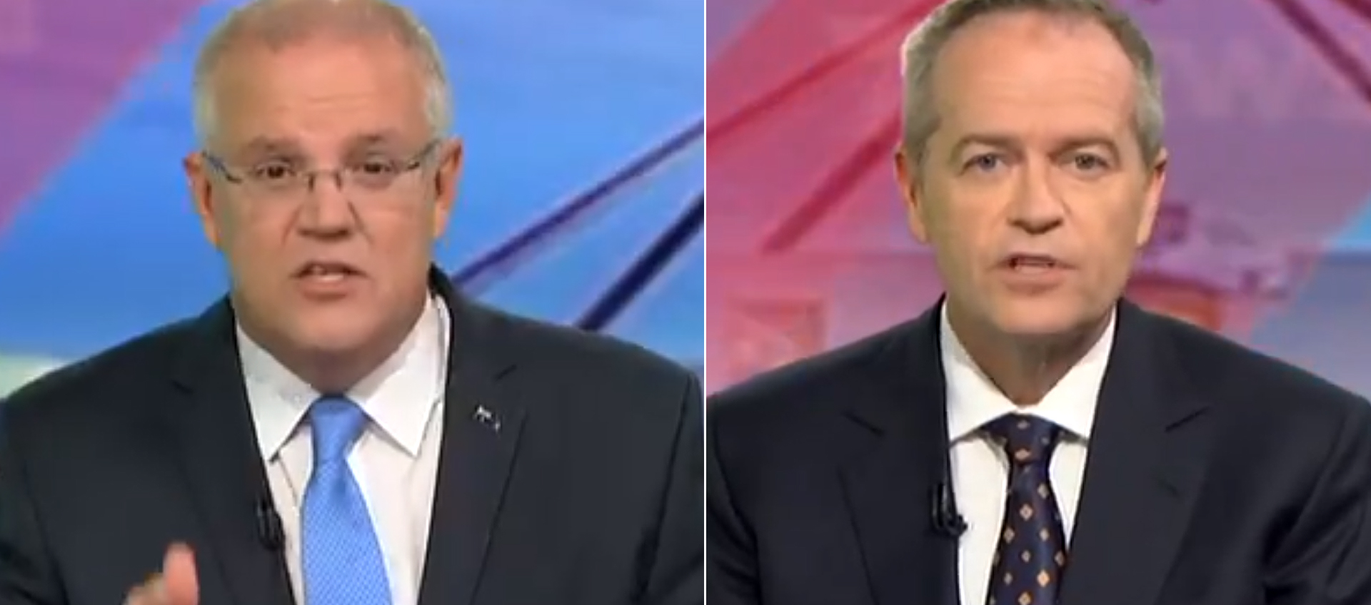 Scott Morrison and Bill Shorten square off in last night's leaders debate in Perth.