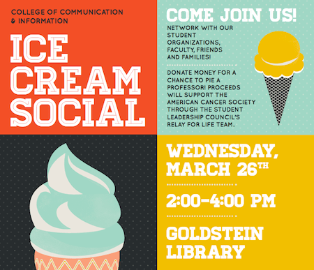 CCI Spring Ice Cream Social on March 26 from 24 pm