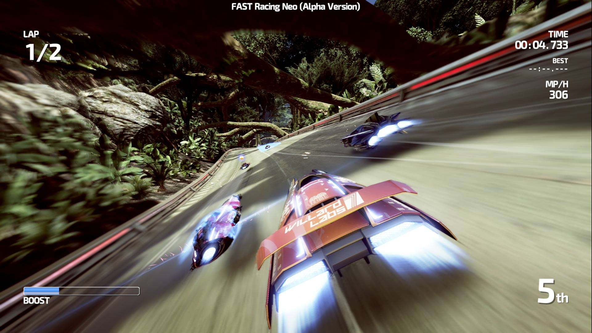 FAST Racing Neo velocidad a 60 frames