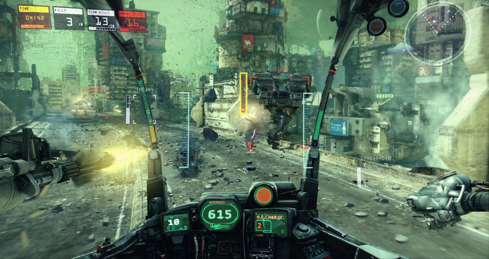 La guerra de robots se desata en Hawken