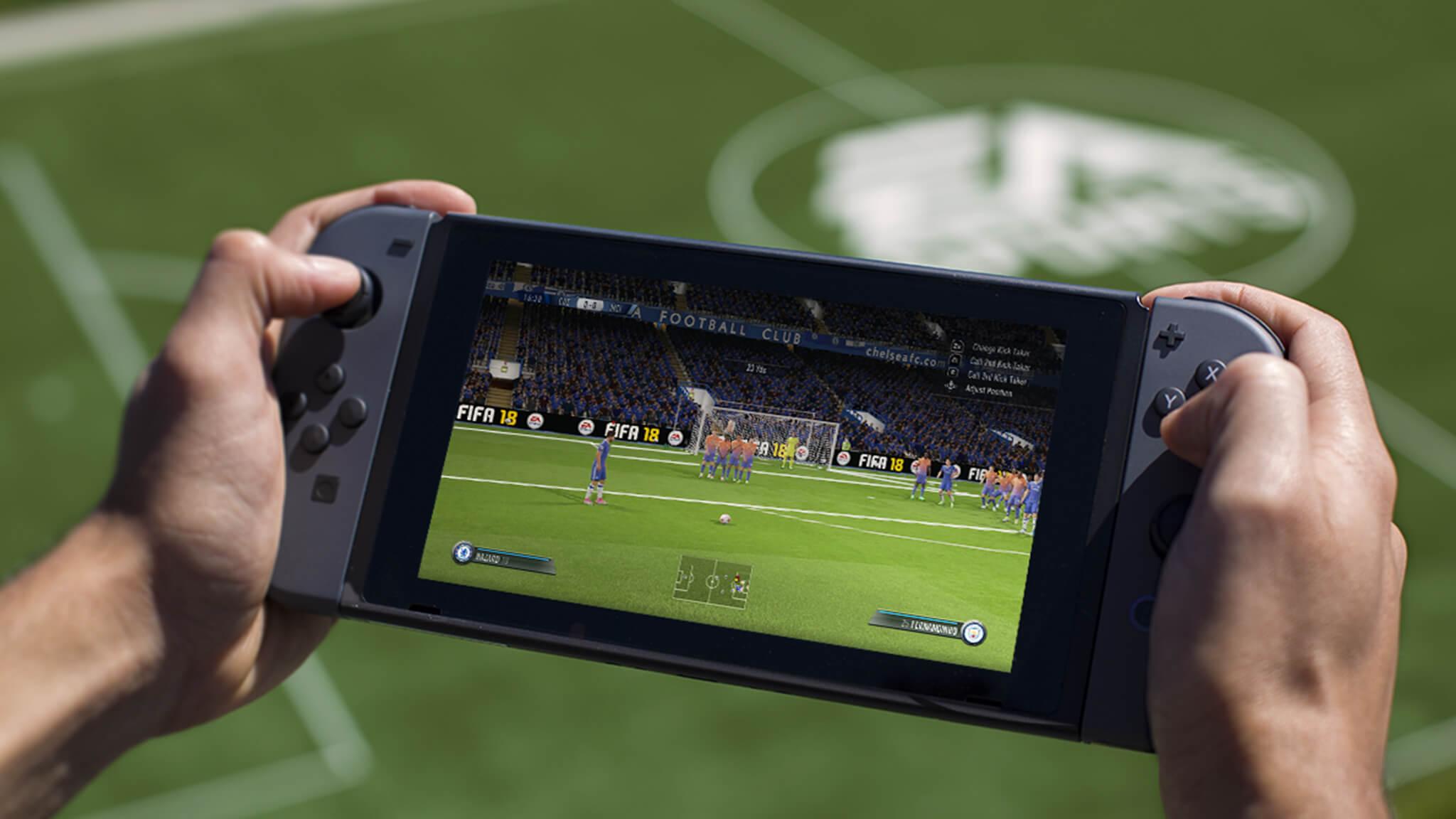 Así es FIFA 18 en Nintendo SWITCH