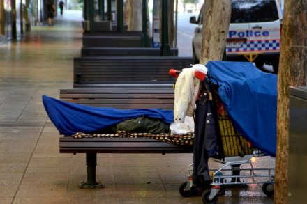 Homeless person in Brisbane