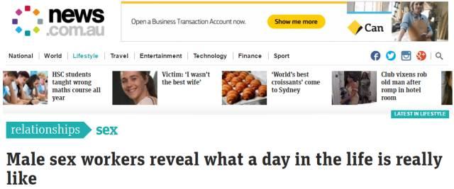 澳洲「职业男性」公开披露行业体验!脱光衣服剪剪草,每小时126澳元-澳洲唐人街