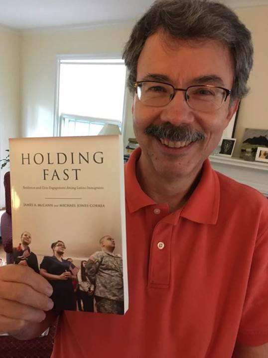 Professor Jay MacCann and his latest book, Holding Fast