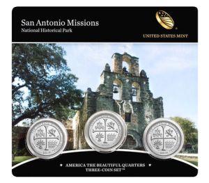 San Antonio Missions Quarter Set